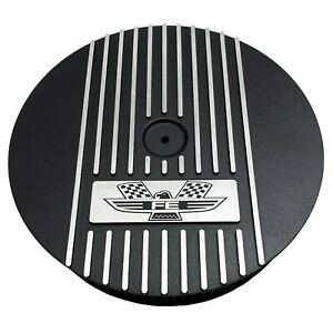 "Ford FE American Eagle - 13"" Round Air Cleaner Kit Black - Ansen USA"