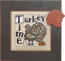 HINZEIT Cross Stitch Chart with 1 Charm TURKEY TIME Thanksgiving