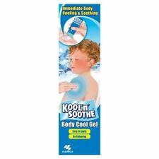 Kool N Soothe Body Cool Gel 100g New