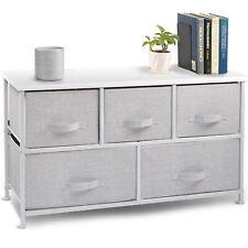 5 Drawer Fabric Storage Table Organizer Dresser Chest Shelf Cube Dresser Bedroom