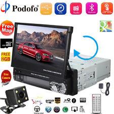 "7"" 1 DIN Autoradio Bluetooth GPS Navi Stereo MP5 Player Retractable Écran Tactil"