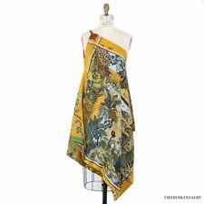 AUTHENTIC HERMES Hermes Petite H Womens Yellow Dress Jardin D'Hiver/Flots Fleurs