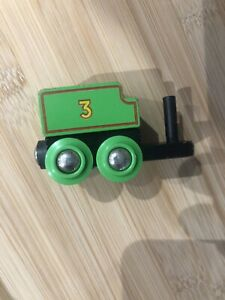 Thomas Brio wooden railway rare vintage Henry's Tender with peg style coupling