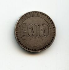 """""""AMD"""" OLD COUNTER STAMPED LOVE TOKEN ON A US SILVER SEATED QUARTER"""