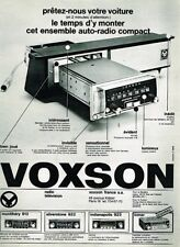 N- Publicité Advertising 1968 Auto radio autoradio Voxson