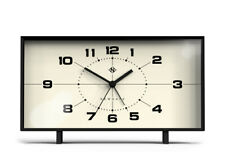 NEWGATE CLOCKS Wideboy Black Retro Alarm Clock Mantel Desk Silent Sweep Bedroom