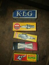 5 x Vintage Lodge Champion Bosch NGK Spark Plug boxes
