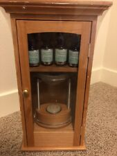 """Aroma Source Aroma Therapy Diffuser 14"""" Wooden Cabinet 4 Pure Essential Oils"""