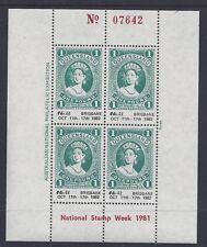 "Australia 1981 National Stamp Week Opt ""ANPex 82 Brisbane""  Souvenir Sheet"