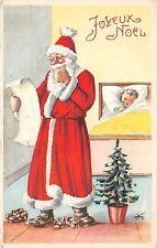 B84620 child sleeping  fir   france  santa claus papa noel