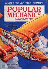 1935 Popular Mechanics April - Baseball secrets; Fishing tips;Perfect oil;Magic