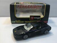 1/43 Scale Burago - Ferrari Testarossa Car - Black In Color *IN BOX*