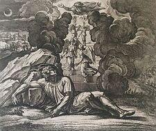 Nicolas CHAPRON ou CHAPERON 1612-1653 d'après RAPHAEL Dieu Jacob et Anges XVIII