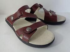 PROPET St Lucia W0038 Womens 7N Brown Leather Low Heel Slide Sandal Shoe