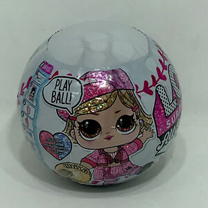 LOL Surprise All Stars B.B.s. Series One Pink Sparkly Doll Accessories Baseball!