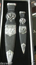 Two Piece Scottish Sgian Athame Set Dagger, Ritual Knife Wicca, Pagan, Witch