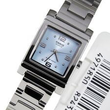 Casio Women's LTP1237D-2A Silver-Tone Blue Dial Analog Quartz Watch