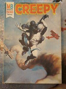 Vintage 1970's Creepy Magazine Jigsaw Puzzle 4777-4 missing 3 pieces