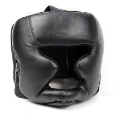 Black Good Headgear Head Guard Training Helmet Kick Boxing Protection Gear W6I4