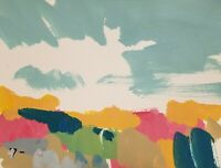 "JOSE TRUJILLO - LANDSCAPE ORIGINAL MODERNIST ACRYLIC on Paper PAINTING 9x12"""