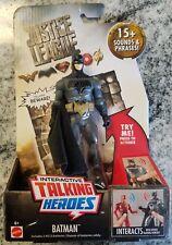 "Batman 6"" inch DC INTERACTIVE TALKING JUSTICE LEAGUE MOVIE ACTION FIGURE"