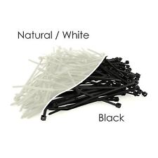 Black & White Nylon Plastic Cable Ties Zip Tie Wraps 100mm 200mm 300mm