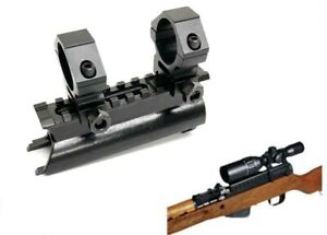 SKS See-Thru Receiver Cover Replacement High Profile Mount with 1'' scope rings