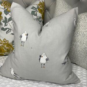 John Lewis SEAGULLS Fabric , Smoke Grey Nautical Coastal Cushion Cover