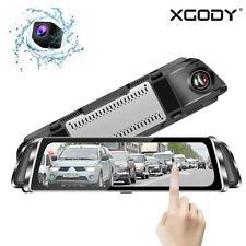 "10"" Hd 1080P Car Dvr Dual Lens Recorder Rear View Mirror Camera Dash Cam Night"