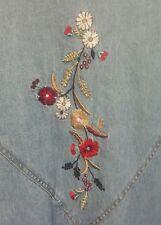 Vintage Blair Women Jacket Denim Size XL Zipper Front Elastic Cuffs and Bottom