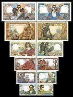2x 5, 10, 20, 100, 1.000, 5.000 Francs - Ausgabe 1941 - 1950 - Reproduktion - 08