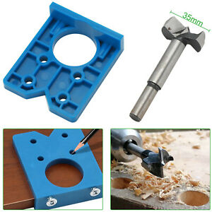 ABS Concealed Hinge Hole Jig For Kitchen Cabinet Doors With Drill Bit Tool