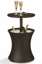 Rattan Style Bar Outdoor Cooler Coffee Table Deck Porch Patio Furniture Party
