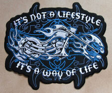 MOTO    IT'S A WAY OF LIFE    GRAND PATCH ECUSSON Patch thermocollant DOSSARD