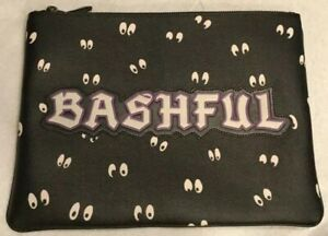 New Disney X Coach Snow White Spooky Eyes Bashful Large Zippered Pouch Bag