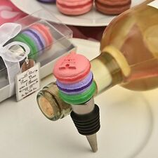 Wine Bottle Stopper -Macarons w/Eiffel Tower Embossed  - Gift Boxed - UNIQUE!