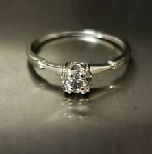 14K WHITE GOLD DIAMOND SOLITAIRE RING .200 CARAT SIZE 7.75