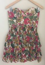 Jill Stuart Cocktail Dress Size 6 Sweetheart Floral Print Strapless