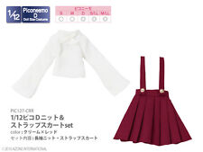 Azone Picconeemo D Outfits Knit & Strap Skirt Set Cream x Red 1/12 Fashion Doll