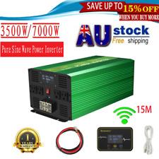 3500w/7000w Pure Sine Wave Power Inverter Converter 12v DC to 240v AC Camp LCD