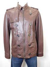 Men's Prada Leather Jacket Zipper Dark Brown Collar Size Large - XL 52 - 54 8311