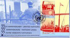 UN Geneva FDC #360 55th Anniversary S/S (6472)aa