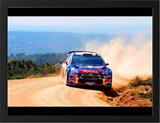 CITROEN DS3 WRC NEW A3 FRAMED PHOTOGRAPHIC PRINT POSTER