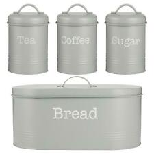 More details for typhoon living grey tea coffee sugar and bread bin set