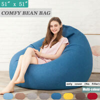 Large Beanbag Teen Bean Bag Chair Kids Seat Adult Childrens Chair Cover US