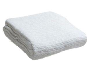 Head2Toe 100% Cotton Hospital Thermal Blanket - Open Weave Cotton Blanket - Brea