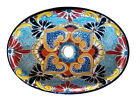 #125) MEDIUM 17x14 MEXICAN BATHROOM SINK CERAMIC DROP IN UNDERMOUNT BASIN