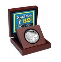Niue 2014 $2 Disney 80th Anniversary of Donald Duck 1 Oz Silver Proof Coin