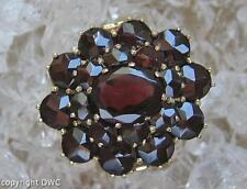 Granatring Ring mit Granat Steine in aus 585er Gold Finger Damen Ringe Gr.56