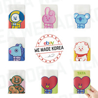 BT21 Character Colorful Clear Passport Case Cover 7types Authentic K-POP Goods